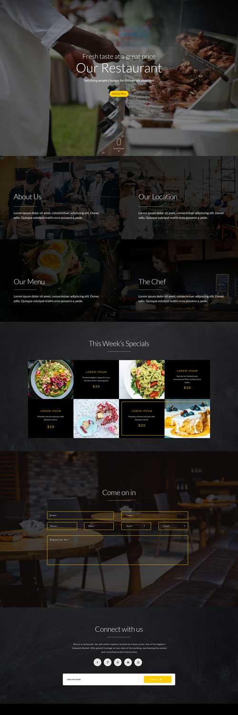 Wordpress Desain Restaurant Murah Sepuluh Designs